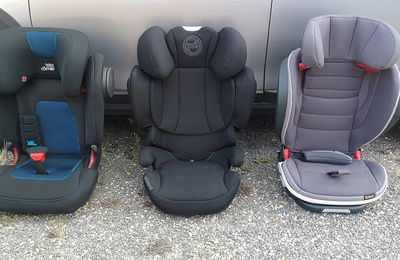 Comparatif rehausseurs : Britax Kidfix 3S, Besafe iZi flex fix et Cybex Solution Z i-fix