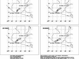 Fuego - anomalie thermique au 25.02.2017 / 4h55 - Mirova - & Volcanic ash advisory 25-26.02.2017 / VAAC Washington - un clic pour agrandir