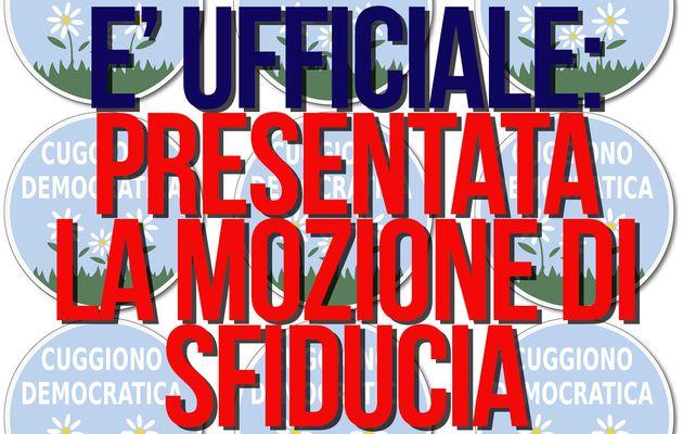 PRESENTATA LA MOZIONE DI SFIDUCIA!!!
