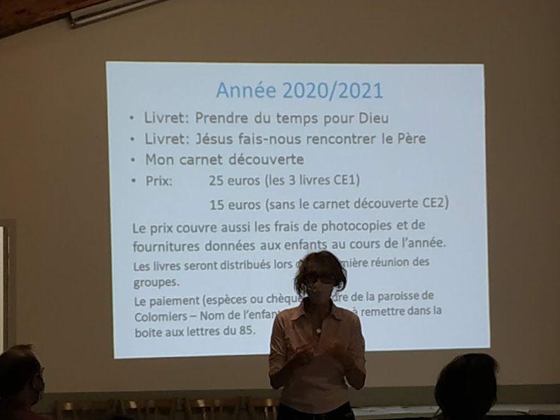 La rencontre des parents, le mardi 15 septembre 2020 à 20h30 à Ste-Bernadette