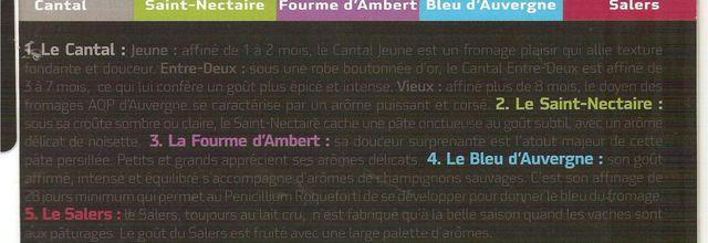 Auvergne: le seul plateau de Fromages à avoir cinq appellations