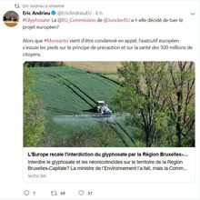 Interdiction du glyphosate : que dit la Commission Européenne ?