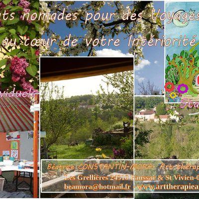 Séjour individuel, Retraite Art-thérapie analytique en Dordogne, se Ressourcer et retrouver sa Créativité