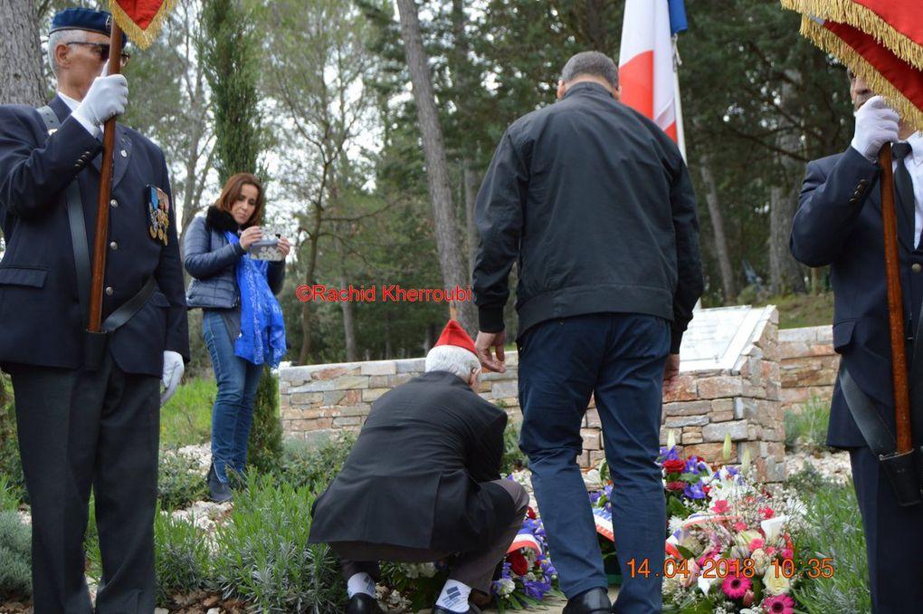 Dévoilement de la plaque commémorative en mémoire des Harkis à Fuveau (13) le samedi 14-04-2018