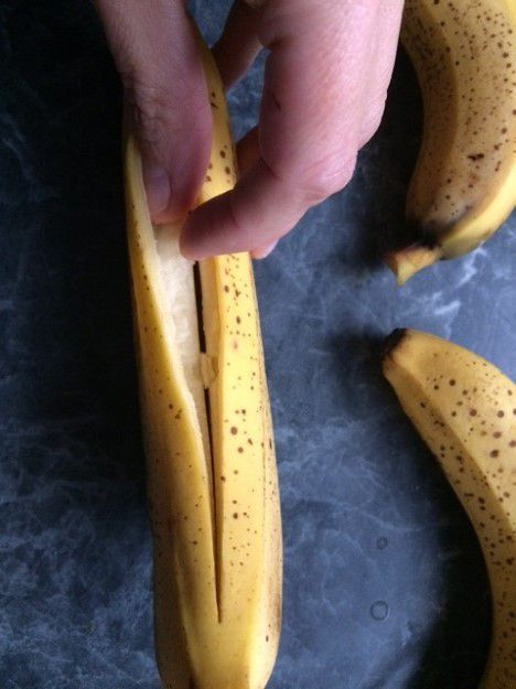 Banane rôtie au four au chocolat
