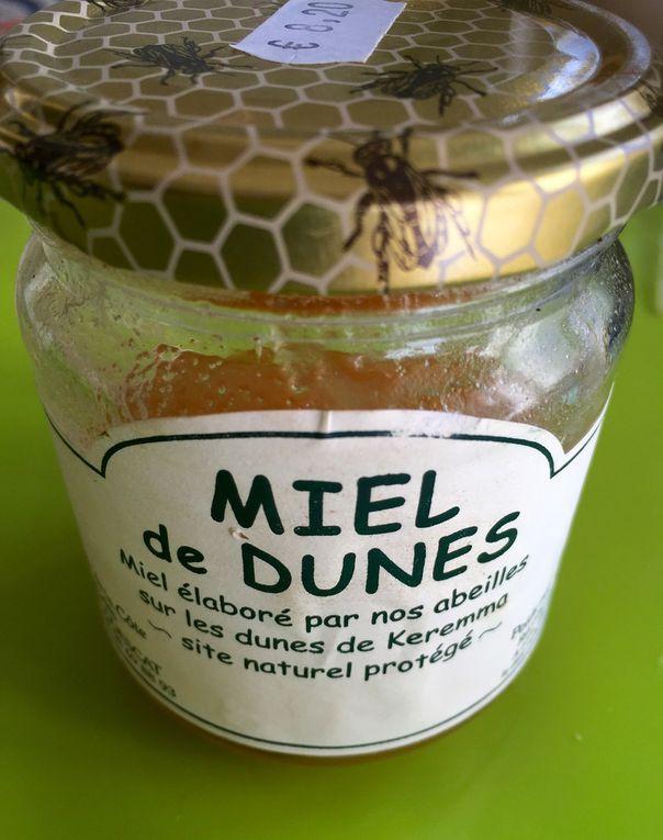 Le baume bien entamé, le miel de Dunes, l'extrait de café british