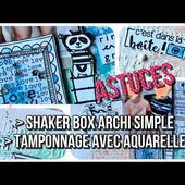 TUTO SCRAP | REALISER UN FOND AQUARELLE SUR TOILE CANVAS