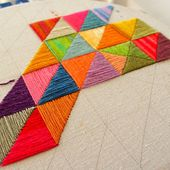 One way to use up leftover thread...