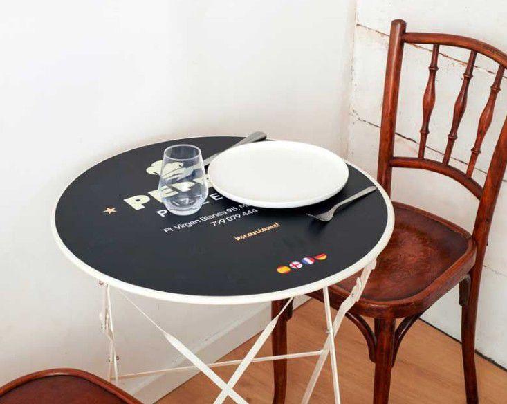 Set de table rond pour table bistrot par reflet d'expression
