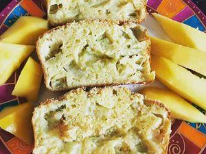 Cake  rhubarbe coco sans farine