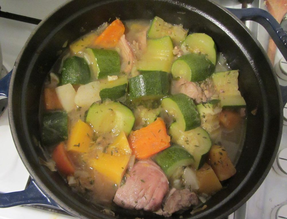 Cocotte de filet mignon au boulghour et aux légumes