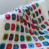 Crochet : un plaid de granny square en alpaga - Chez elkalin.com