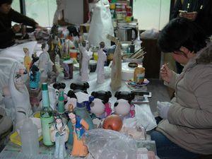 Les artistes chargés de peindre les copies