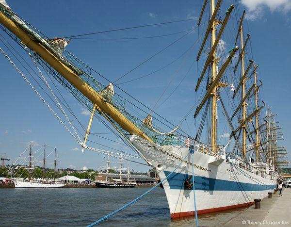 Armada de Rouen : les bateaux sont amarrés à Rouen