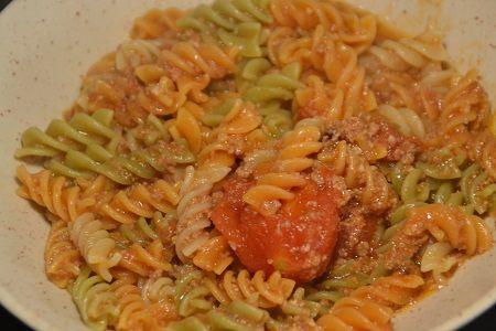 Torsades tomates épinards viande hachée cookeo