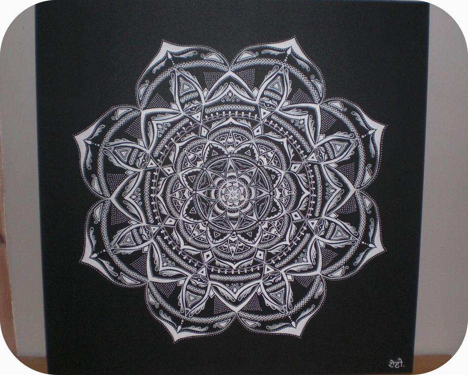 Mandala noir et blanc...
