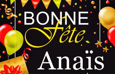 En ce 26 juillet, nous souhaitons une bonne fête  à Anaïs, Anne, Joachim, Nancy 🙂