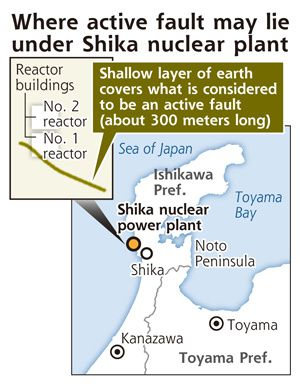 Shika plant may be sitting on an active fault