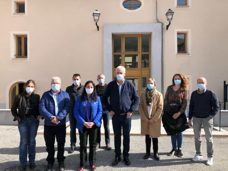 Saint André les Alpes: Violaine Desmaret, préfète, rencontre avec la municipalité