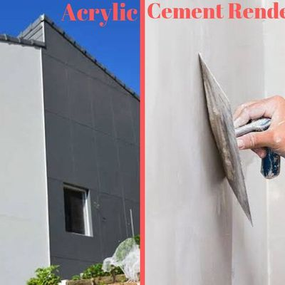 Acrylic Vs Cement Render- Know The Difference!