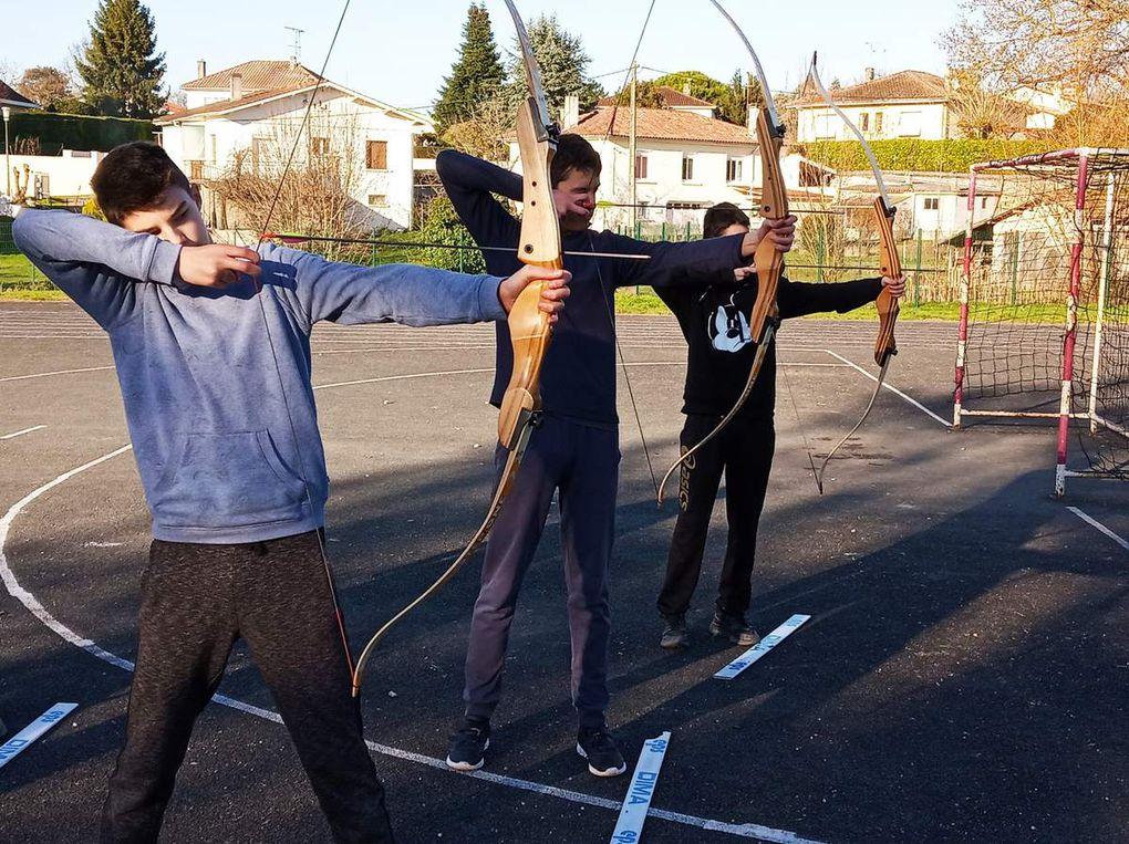 Initiation tir à l'arc avec les 4ème de la SEGPA