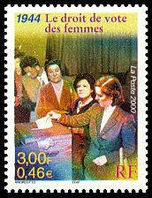 21 avril 1944 : les femmes obtiennent le droit de vote.