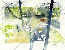 bruxelles, forêt de soignes, rouge-cloître, chemin des étangs