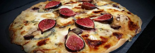 Pizza figues et fromages