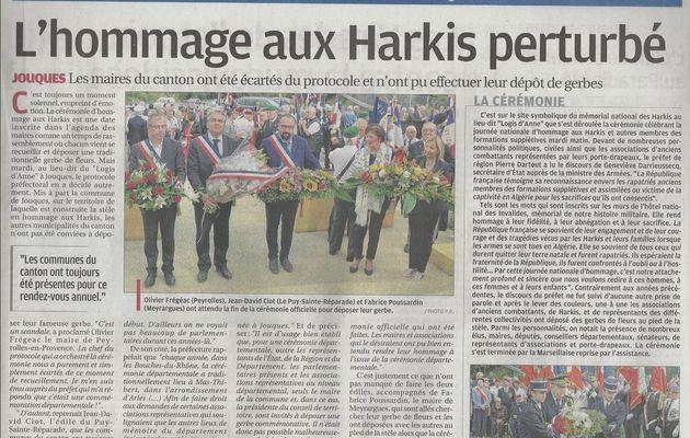 L'Hommage aux Harkis perturbé à Jouques (13)