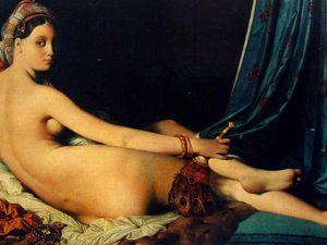 """La Grande Odalisque"", Jean Dominique Ingres, 1814 / Martial Raysse ""Made in Japan"", 1964"
