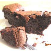Gâteau au chocolat sans beurre ni farine (sans gluten) - sucreetepices.over-blog.com