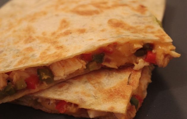 Quesadillas au poulet (Mexique)