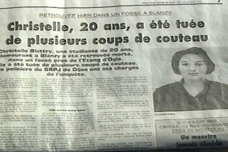 Le corps de Christelle Blétry avait été retrouvé, frappé d'une centaine de coups de couteau, le 28 décembre 1996 à Blanzy, en Saône-et-Loire.