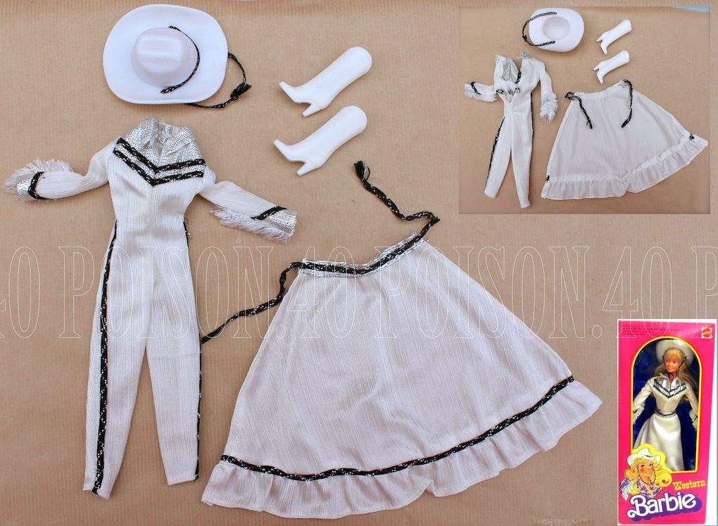 """WESTERN"" BARBIE DOLL CLOTHES 1980 MATTEL #1757 #3469"