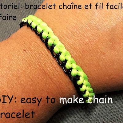 Tutoriel: bracelet chaine et fil facile à faire