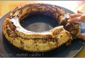 Couronne marbrée choco coco