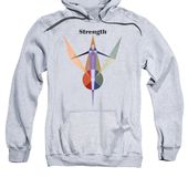 Strength Text Adult Pull-Over Hoodie for Sale by Michael Bellon
