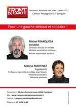 Cantonales 2011 à Perpignan: Saint Jacques avec Michel Franquesa et Maryse Martinez