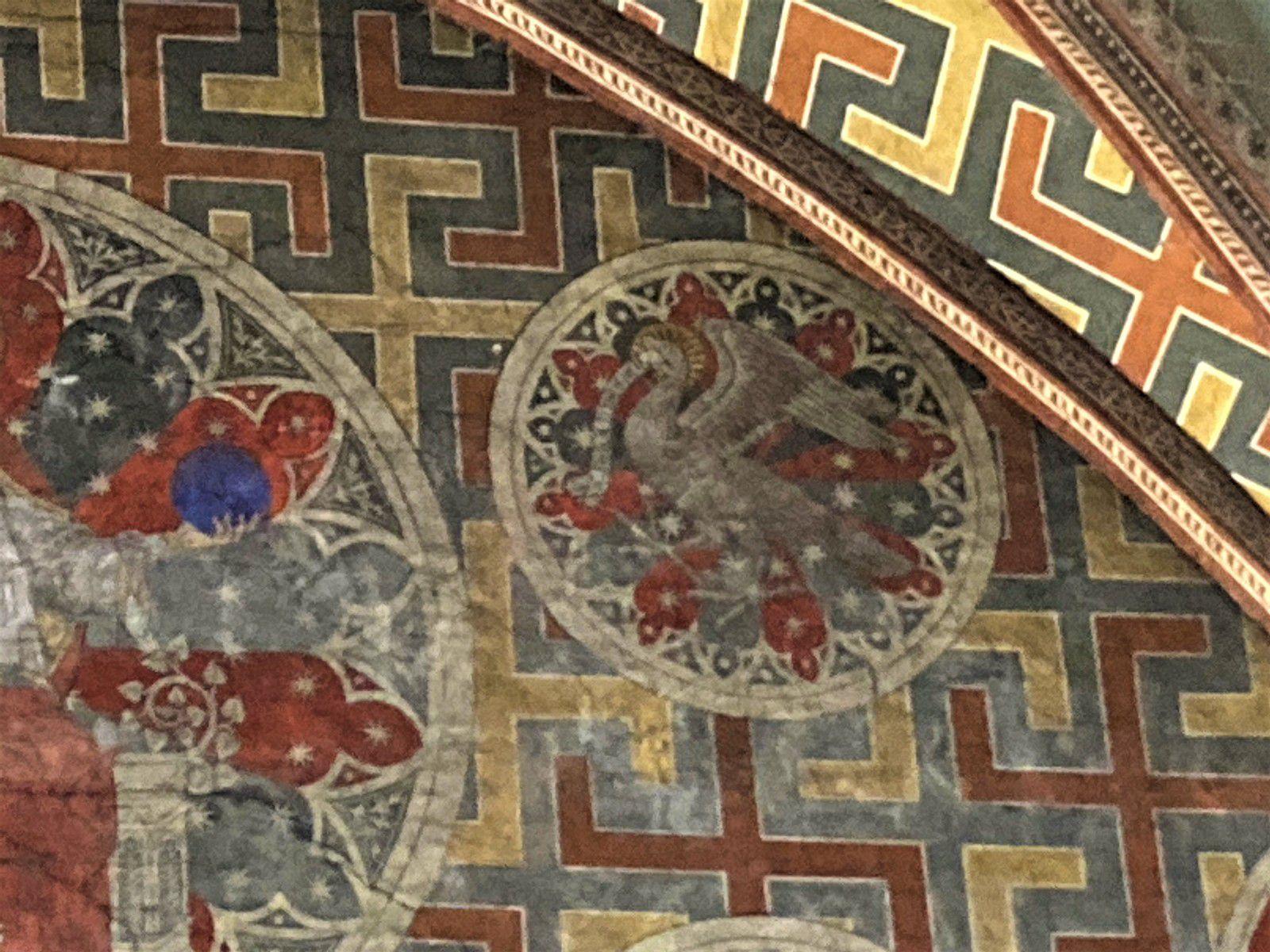 Saint Jean dont l'évangile est haut en symbole philosophique à un aigle pour symbole