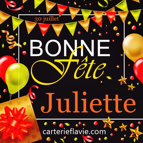 En ce 30 juillet, nous souhaitons une bonne fête à Juliette 🙂