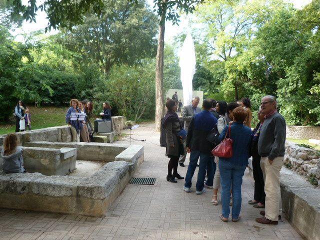 Fête des fées de l'Huveaune, Saint-Loup : inauguration de la fée Manon, 13 octobre 2012