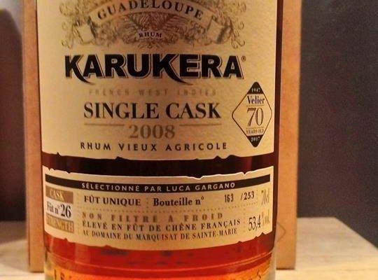 Karukera 2008 Single Cask  Fût n°26