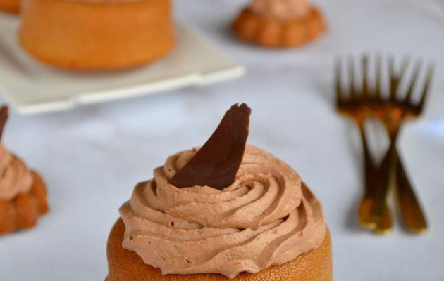 Petits pains d'épices ganache montée chocolat clémentine
