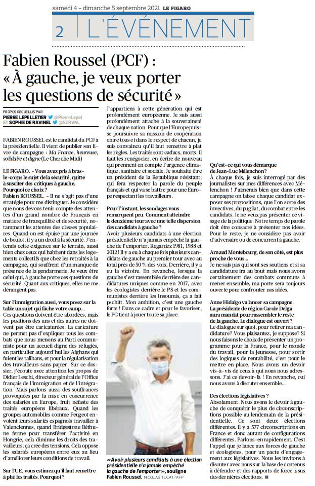 """Fabien Roussel (PCF) : """"À gauche, je veux porter les questions de sécurité"""""""