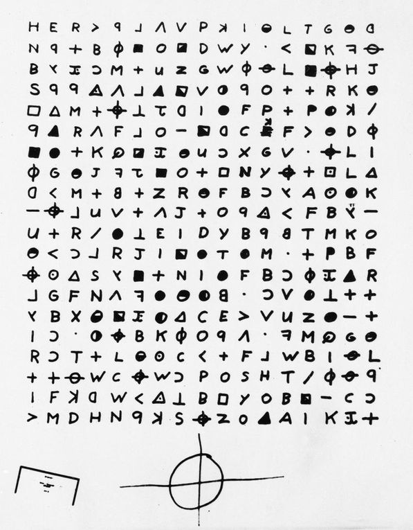 """Police sketch of the man suspected of being the """"Zodiak Killer,"""" 1969.  Handout / The Chronicle The Zodiac Killer's infamously uncrackable 340 cipher has been solved. Hearst Newspapers"""