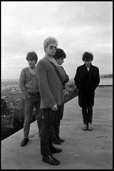 U2 sur le toit de l'hôtel Cork Country Club, Cork, Irlande 02 mars 1980.