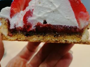 Tartelettes pistaches fraises chantilly