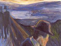 """Autres oeuvres de MUNCH : """"Désespoir"""" 1892 et """"Anxiété"""" 1894, """"Les âges de la femme"""", 1895"""