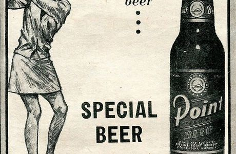 Point Beer advertisement, 1976