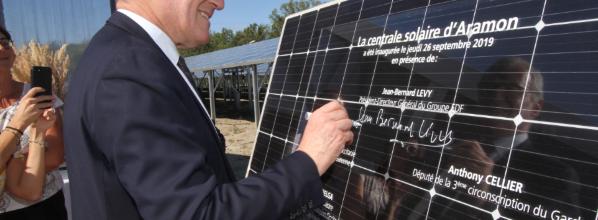 Inauguration de la centrale photovoltaïque d'Aramon et du Cleantech Booster